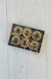 Bee and Butter Tealight Candle Set of 6