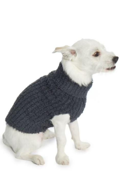 Barefoot Dreams: The CozyChic Ribbed Pet Sweater, Slate Blue
