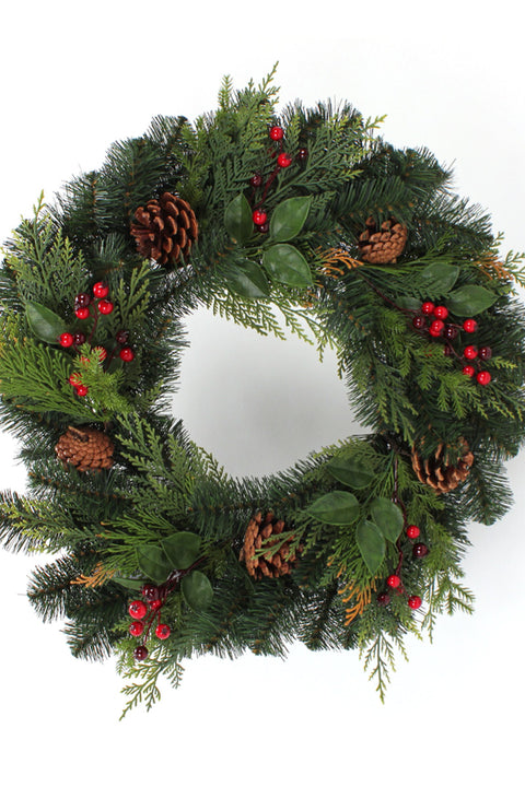 Green Forest Wreath 24""