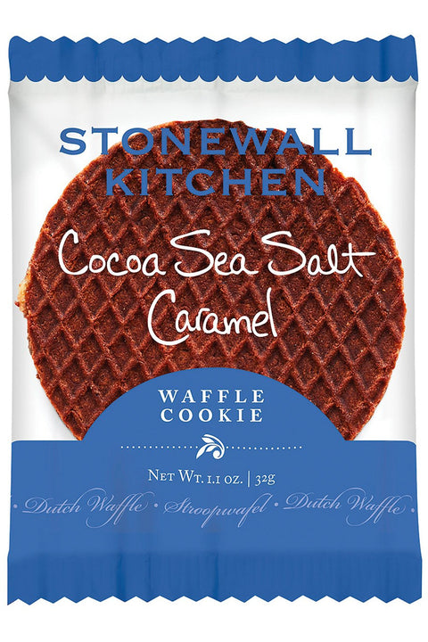 Stonewall Kitchen Cocoa Sea Salt Caramel Waffle Cookie