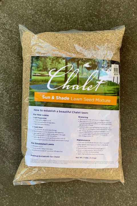 Chalet Lawn Seed Mix: Sun & Shade
