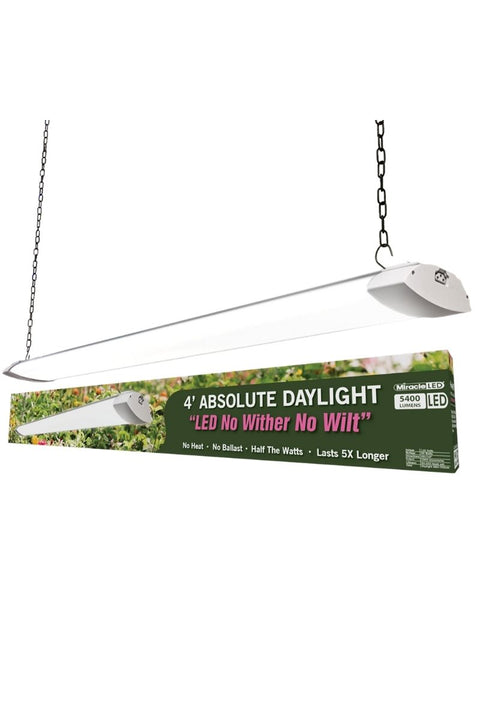 4' LED Commercial Full Spectrum Daylight Grow Light Replaces Old, Hot ,Fluorescent Fixtures