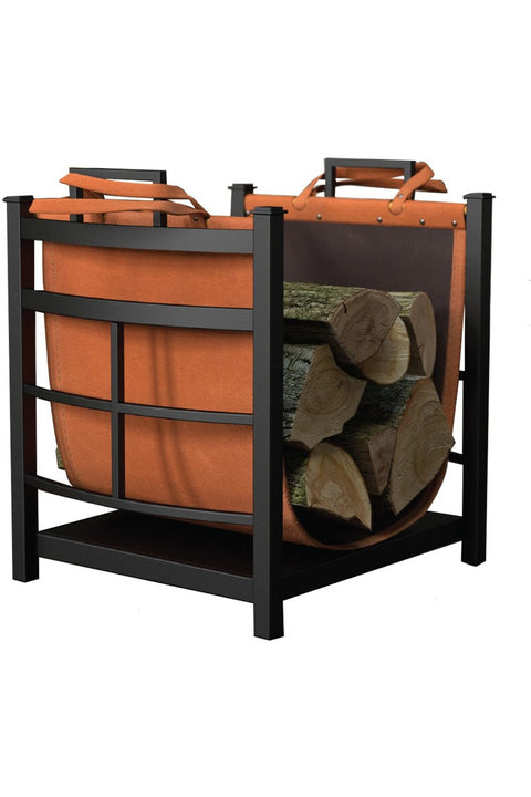 Fireplace, Mission Log Bin with Carrier
