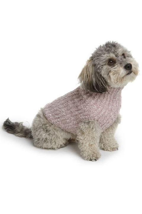 COZYCHIC™ Ribbed Pet Sweater, Rose Pink