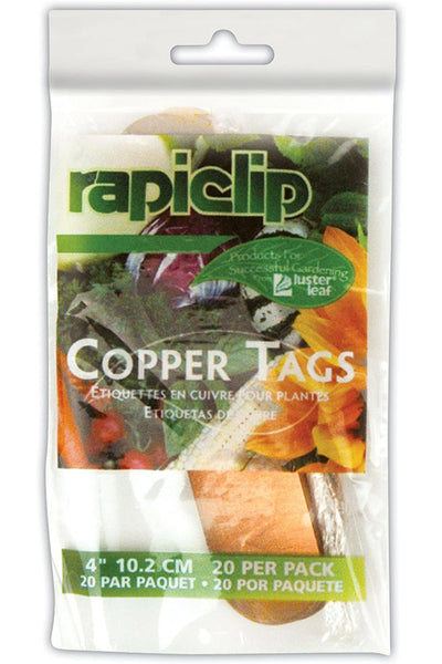 "Rapidclip Copper Plant Tags 4"" 20 Pack"