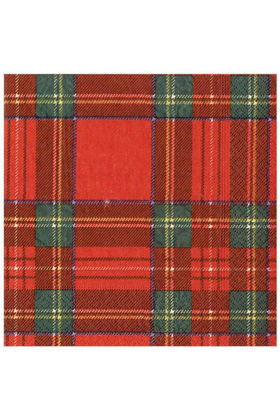 Caspari Royal Plaid Paper Dinner Napkins