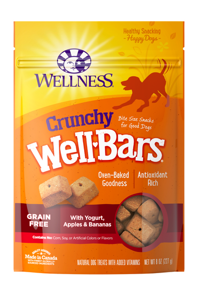 Wellness WellBars Yogurt, Apples & Bananas