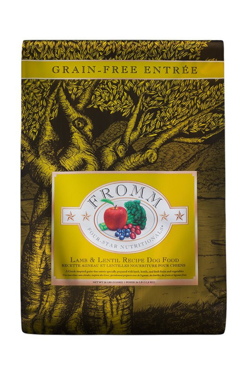 Fromm Lamb & Lentil Recipe Four-Star Nutritionals Dog Food (Grain Free)