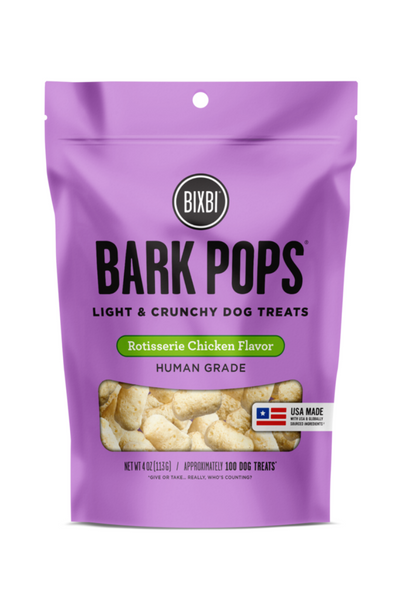 Bixbi Bark Pops Rotisserie Chicken Dog Treats