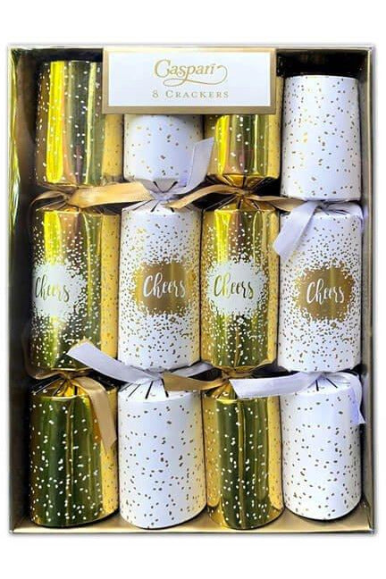 """Cheers"" Gold Celebration Crackers"