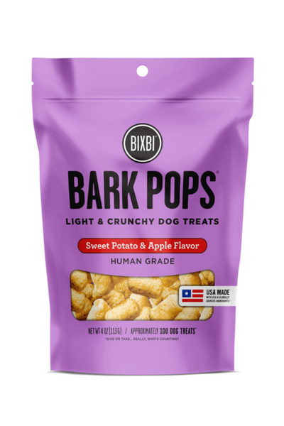 Bixbi Bark Pops Sweet Potato and Apple Dog Treats