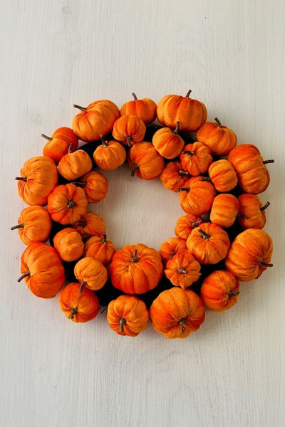 Silk Pumpkin Wreath