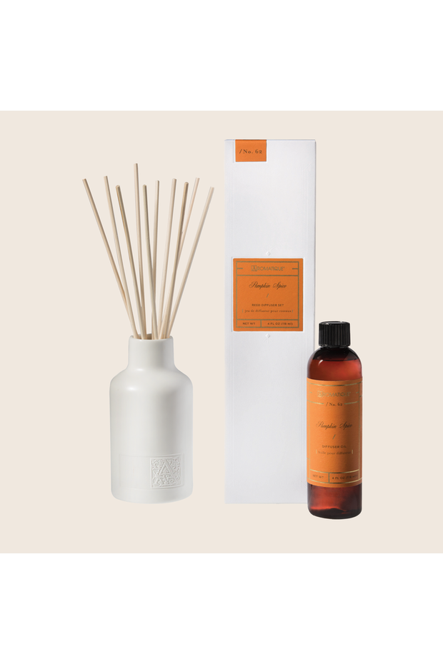 Aromatique Pumpkin Spice Reed Diffuser Set