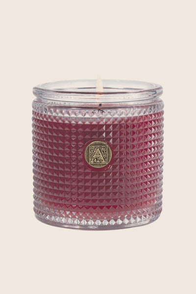 Aromatique Vanilla Rosewater Textured Glass Candle