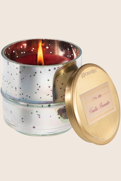 Aromatique Vanilla Rosewater Metallic Candle