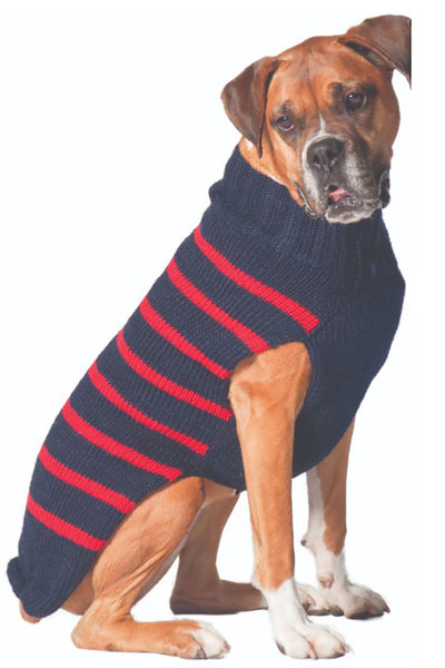The Chilly Dog Alpaca Sweater STRP XS