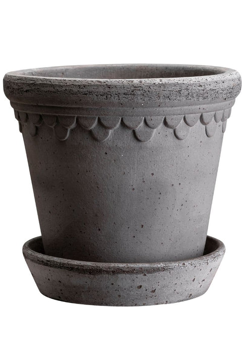 Berg's Copenhagen Grey Castle Pot - 8.3""