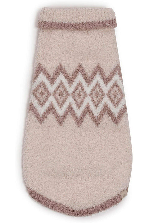 Barefoot Dreams Pink Nordic Dog Sweater Multi XS