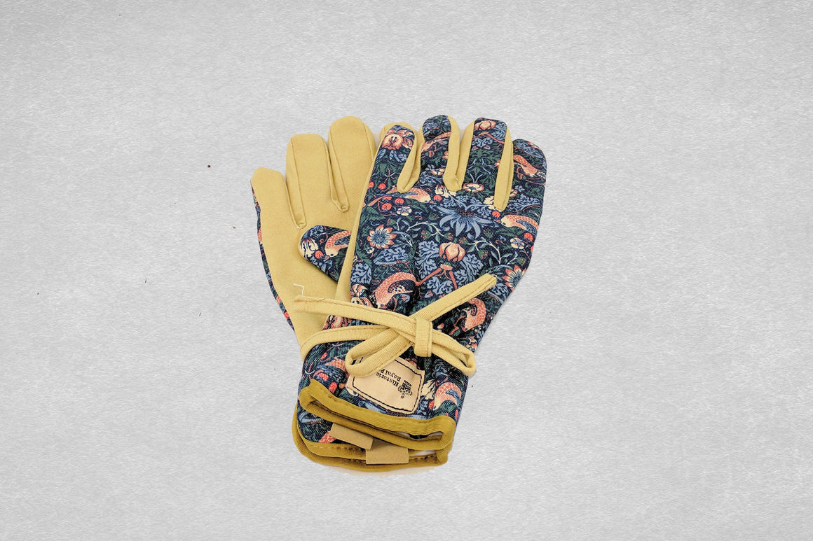 Navy Print Garden Gloves