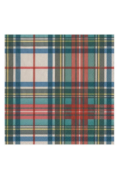Caspari Dress Stewart Tartan Paper Cocktail Napkins