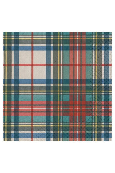 Caspari Dress Stewart Tartan Paper Luncheon Napkins