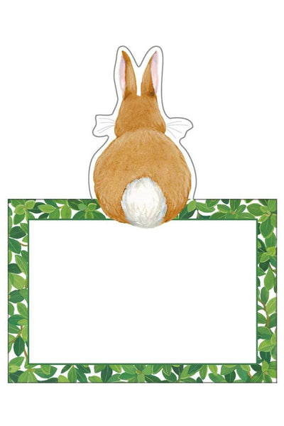 Caspari Bunnies and Boxwood Die-Cut Place Cards