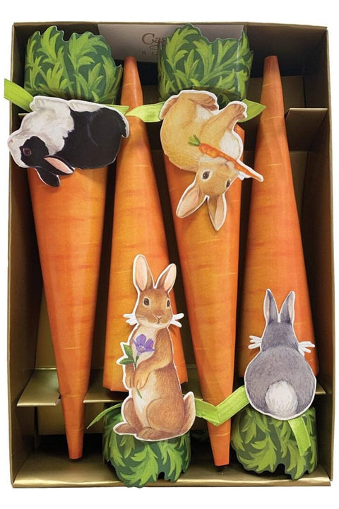 Caspari Bunnies & Carrots Celebration Crackers