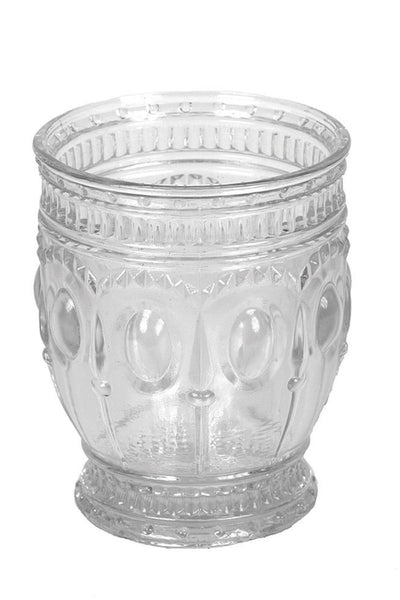 Embossed Drinking Glass/Votive Holder