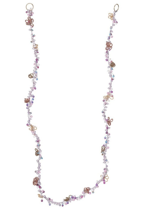 Garland, Glass Beads with Flowers