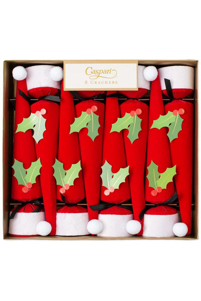 Santa Hat Cone-Shaped Celebration Christmas Crackers - 8 Per Box