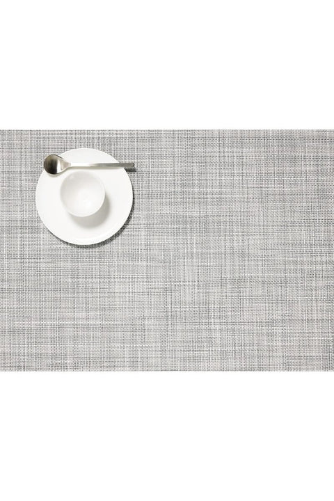 Placemat, Mini Basketweave Rectangle Mist