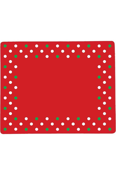 C&F, Placemat - Christmas Polka Dots