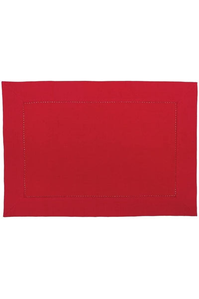C&F, Placemat - Hemstitch Crimson