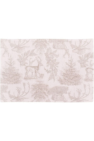 C&F, Placemat - Jacquard Stag Clay