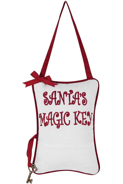 C&F, Santa's Magic Key pillow