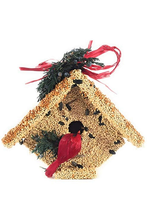 Mr. Bird Food, Christmas Wren Casita with Cardinal