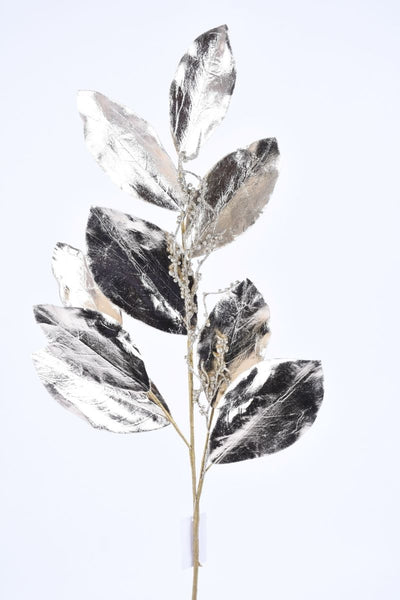 Magnolia Twig, Metallic, Silk