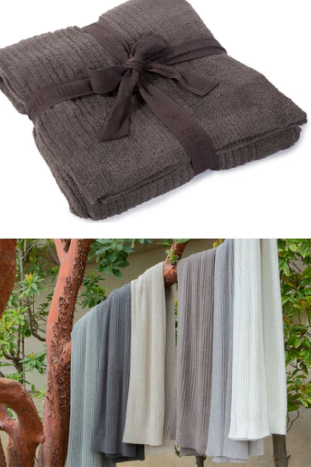 Barefoot Dreams CozyChic Lite Ribbed Throw - Cocoa