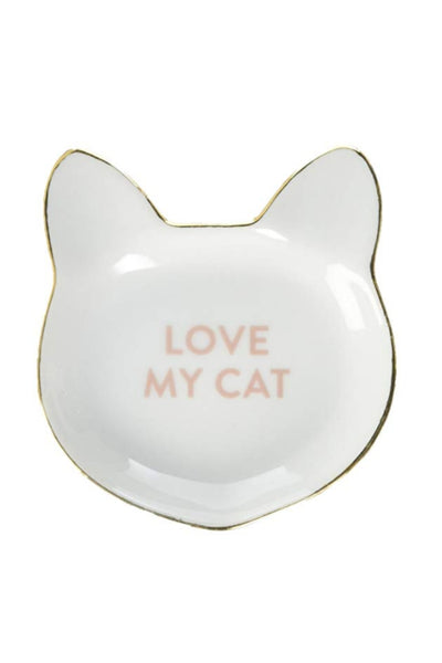 """Love My Cat"" Cat Head Tray"