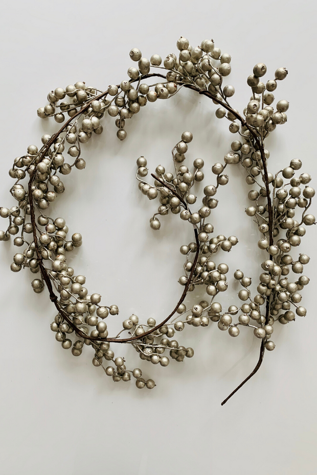 Garland | Faux | Crabapple 6' Platinum