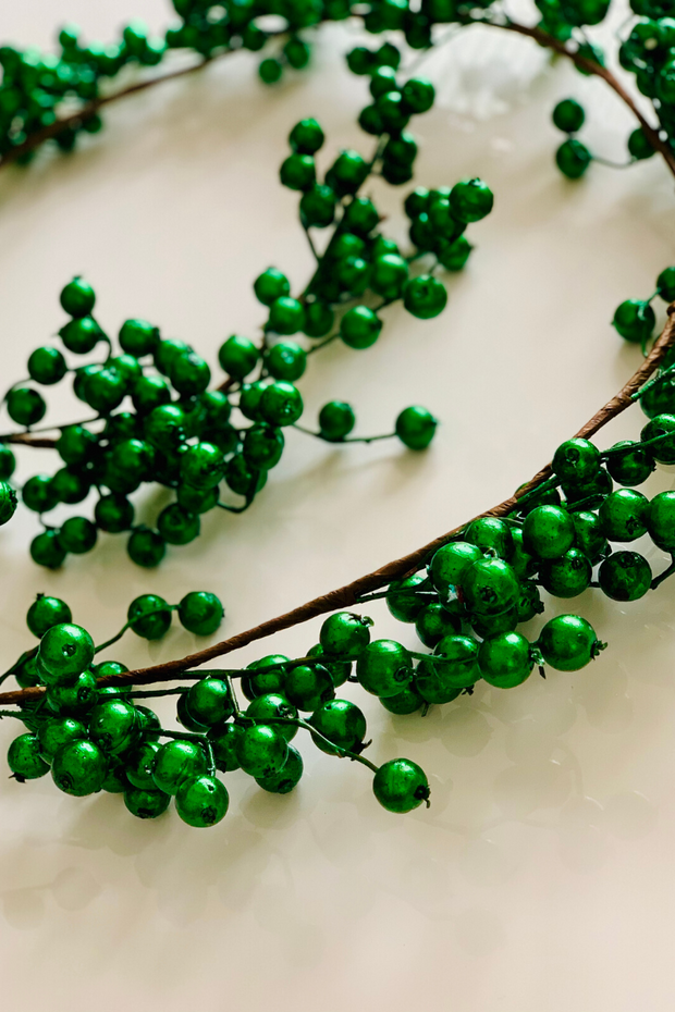 Garland | Faux | Crabapple 6' Emerald
