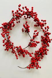 Garland | Faux | Crabapple 6' Red