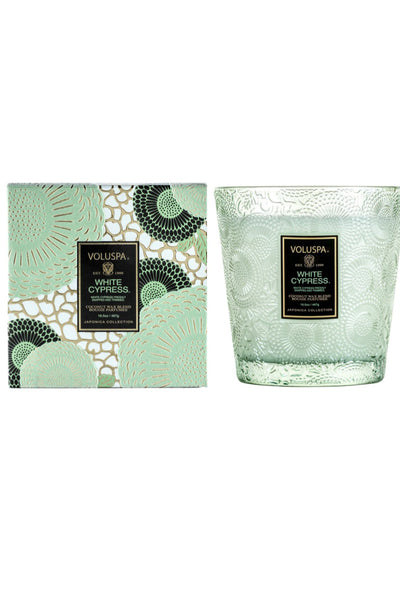 Voluspa White Cypress 2 Wick Hearth Candle