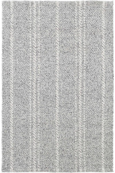 Melange Stripe Grey & Ivory Indoor/Outdoor Rug 2' x 3'