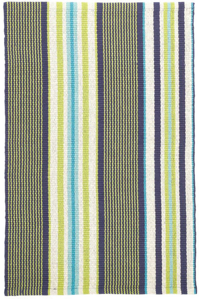 Asher Stripe Woven Cotton Rug 2' x 3'