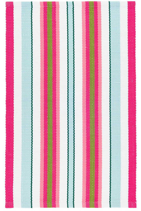 Watermelon Stripe Indoor/Outdoor Rug 2' x 3'