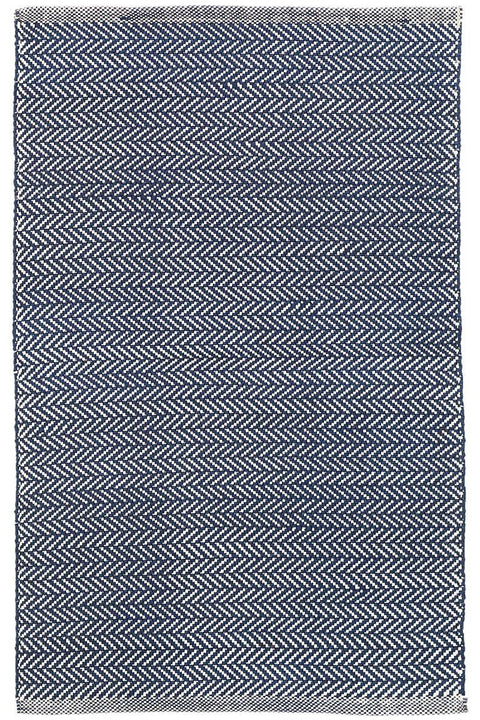 Herringbone Navy & Ivory Indoor/Outdoor Rug