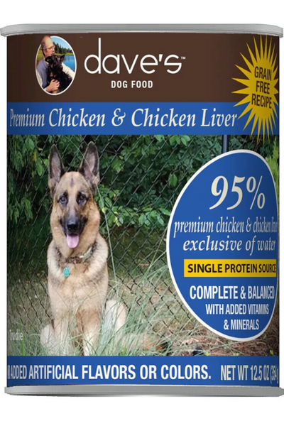Dave's 95% Premium Meats™ Canned Dog Food—Chicken and Chicken Liver