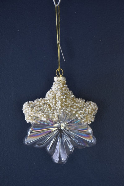 Ornament, Jeweled Glass Star