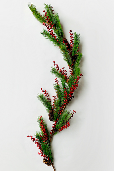 Garland | Faux | Natchez Pine Berry 5'